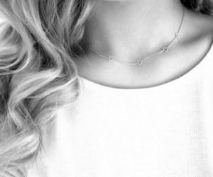 blackandwhite, blonde, and curls image
