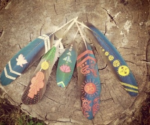 feather, hippie, and art image