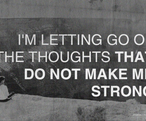 quote, strong, and thoughts image