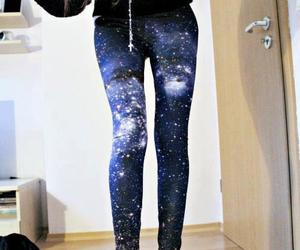 galaxy, leggings, and clothes image