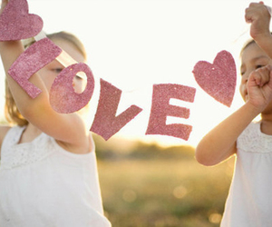 love, kids, and pink image