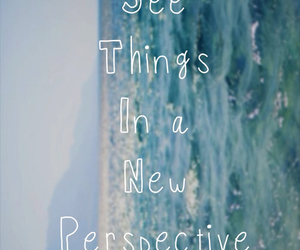 quote, sea, and perspective image