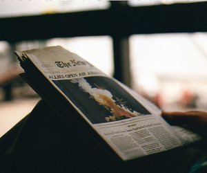newspaper, vintage, and photography image