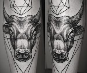 bull and tattoo image