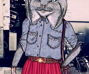 illustration, lynx, and photo image