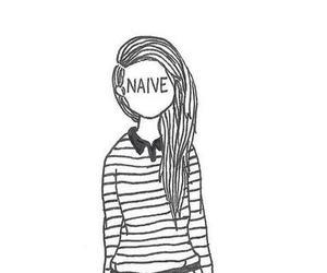 naive, girl, and drawing image