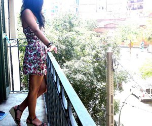 Barcelona, girl, and floral image