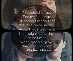 love, quote, and 500 Days of Summer image