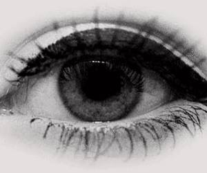 eye, eyes, and black and white image