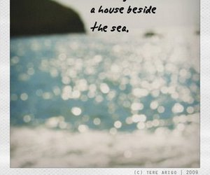 sea, house, and quote image