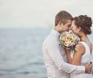 beach, romantic, and wedding image