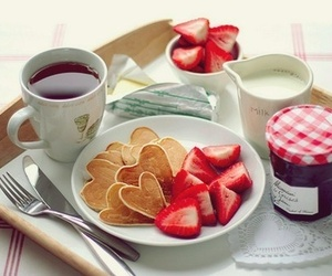 breakfast, strawberry, and food image