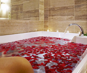 bath, rose, and luxury image
