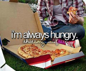 hungry, food, and pizza image