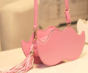 bag, pink, and mustache image