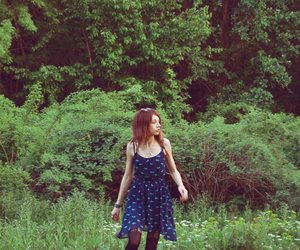 forest, girl, and skinny image