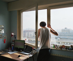 boy, computer, and photography image