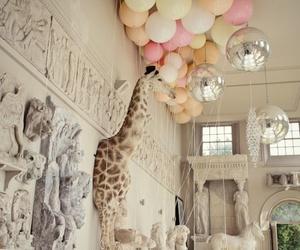 balloons, animal, and giraffe image
