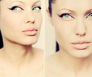 Angelina Jolie, eyes, and make up image