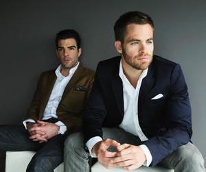 chris pine, zachary quinto, and Hot image