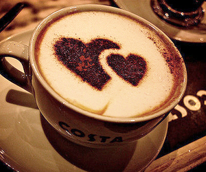 coffee, heart, and hearts image