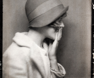 vintage, hat, and black and white image