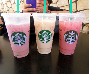 juice, photo, and starbucks image
