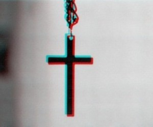 cross, 3d, and necklace image