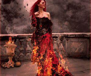 moda gotica and fantasy illustration image