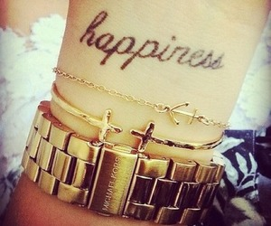 tattoo, happiness, and gold image