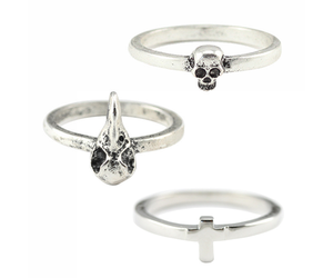 cross, skull, and ring image