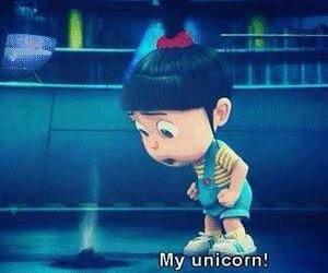 unicorn, despicable me, and minions image