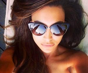 naya rivera, glee, and sunglasses image