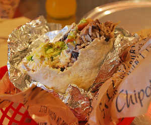 food, chipotle, and burrito image