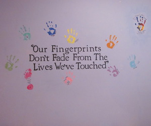 quote, fingerprints, and fade image