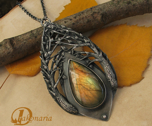 branches, nature, and necklace image