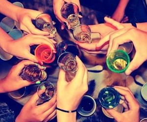 drink, friends, and party image