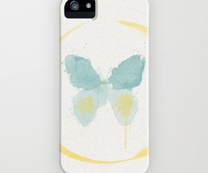 butterfly, paint, and watercolor image