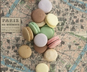 macaroons, paris, and sweet image