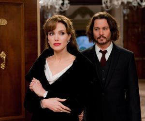 the tourist, Angelina Jolie, and johnny depp image