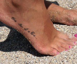 beach, foot, and girly image