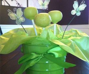 butterfly, cake pops, and green image