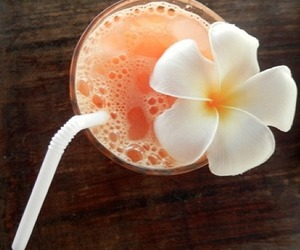 drink, flower, and orange image