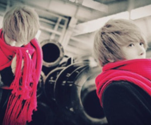asian, pink, and scarf image