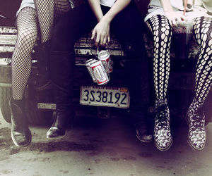 car, shoes, and beer image