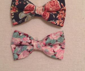 bows, lovely, and roses image