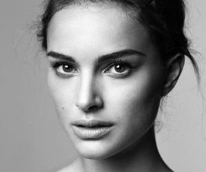 natalie portman and black and white image