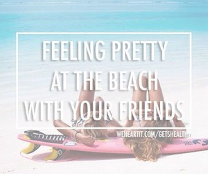 quote, friends, and beach image