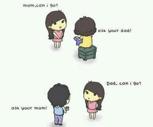 dad, mom, and funny image