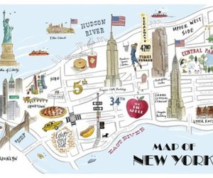new york, map, and nyc image